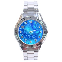 Bokeh Background Light Reflections Stainless Steel Analogue Watch