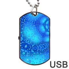 Bokeh Background Light Reflections Dog Tag Usb Flash (one Side)