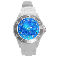 Bokeh Background Light Reflections Round Plastic Sport Watch (l)