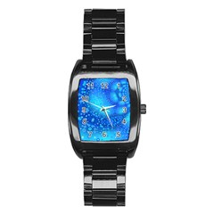 Bokeh Background Light Reflections Stainless Steel Barrel Watch