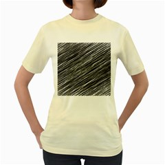 Background Structure Pattern Women s Yellow T Shirt
