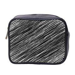 Background Structure Pattern Mini Toiletries Bag 2 Side
