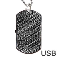 Background Structure Pattern Dog Tag Usb Flash (one Side)