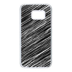 Background Structure Pattern Samsung Galaxy S7 White Seamless Case