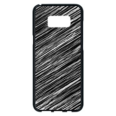 Background Structure Pattern Samsung Galaxy S8 Plus Black Seamless Case