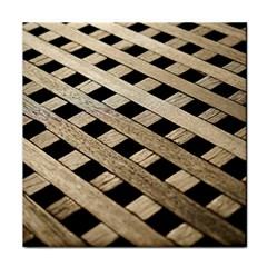 Texture Wood Flooring Brown Macro Tile Coasters