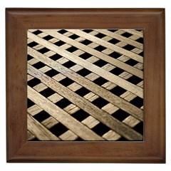 Texture Wood Flooring Brown Macro Framed Tiles