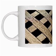 Texture Wood Flooring Brown Macro White Mugs