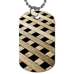 Texture Wood Flooring Brown Macro Dog Tag (one Side)