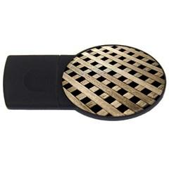 Texture Wood Flooring Brown Macro Usb Flash Drive Oval (4 Gb)