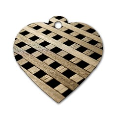 Texture Wood Flooring Brown Macro Dog Tag Heart (one Side)