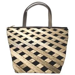 Texture Wood Flooring Brown Macro Bucket Bags