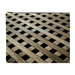 Texture Wood Flooring Brown Macro Cosmetic Bag (xl)