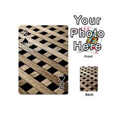 Texture Wood Flooring Brown Macro Playing Cards 54 (mini)