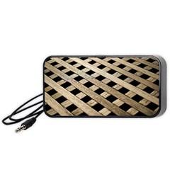 Texture Wood Flooring Brown Macro Portable Speaker (black)