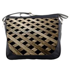 Texture Wood Flooring Brown Macro Messenger Bags