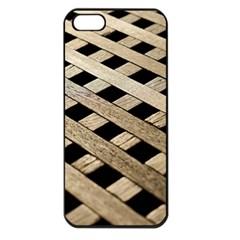 Texture Wood Flooring Brown Macro Apple Iphone 5 Seamless Case (black)