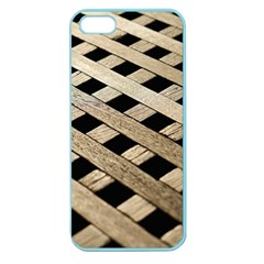 Texture Wood Flooring Brown Macro Apple Seamless Iphone 5 Case (color)
