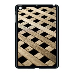 Texture Wood Flooring Brown Macro Apple Ipad Mini Case (black)