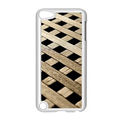 Texture Wood Flooring Brown Macro Apple Ipod Touch 5 Case (white)