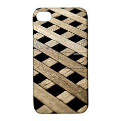 Texture Wood Flooring Brown Macro Apple Iphone 4/4s Hardshell Case With Stand