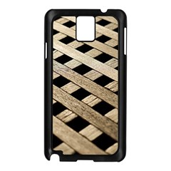Texture Wood Flooring Brown Macro Samsung Galaxy Note 3 N9005 Case (black)