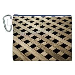 Texture Wood Flooring Brown Macro Canvas Cosmetic Bag (xxl)