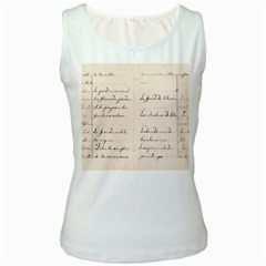 German French Lecture Writing Women s White Tank Top