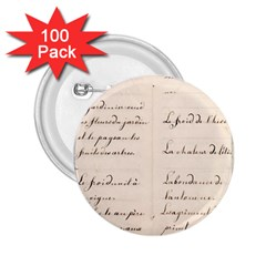 German French Lecture Writing 2 25  Buttons (100 Pack)