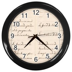 German French Lecture Writing Wall Clocks (black)
