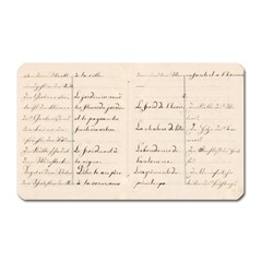 German French Lecture Writing Magnet (rectangular)