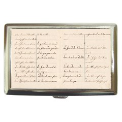 German French Lecture Writing Cigarette Money Cases
