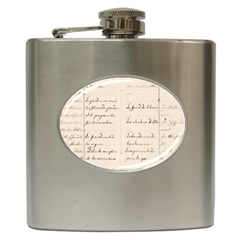 German French Lecture Writing Hip Flask (6 Oz)