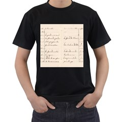 German French Lecture Writing Men s T Shirt (black) (two Sided)