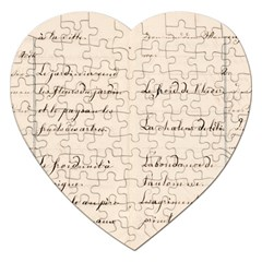 German French Lecture Writing Jigsaw Puzzle (heart)