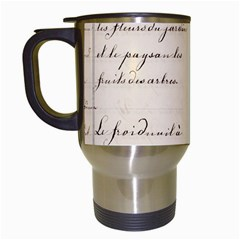 German French Lecture Writing Travel Mugs (white)