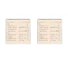 German French Lecture Writing Cufflinks (square)