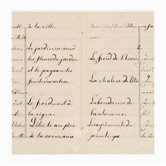 German French Lecture Writing Medium Glasses Cloth