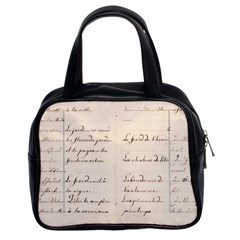 German French Lecture Writing Classic Handbags (2 Sides)