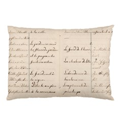 German French Lecture Writing Pillow Case