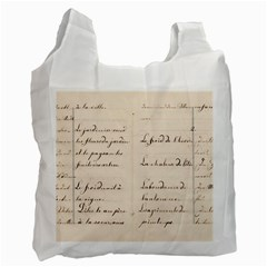 German French Lecture Writing Recycle Bag (one Side)