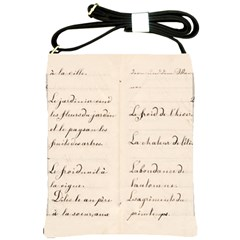 German French Lecture Writing Shoulder Sling Bags