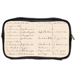 German French Lecture Writing Toiletries Bags 2 Side