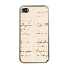 German French Lecture Writing Apple Iphone 4 Case (clear)