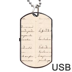 German French Lecture Writing Dog Tag Usb Flash (two Sides)