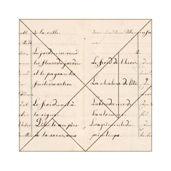 German French Lecture Writing Acrylic Tangram Puzzle (6  X 6 )