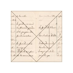 German French Lecture Writing Acrylic Tangram Puzzle (4  X 4 )