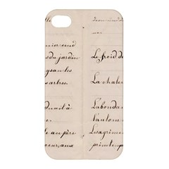 German French Lecture Writing Apple Iphone 4/4s Premium Hardshell Case