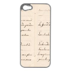 German French Lecture Writing Apple Iphone 5 Case (silver)