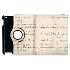 German French Lecture Writing Apple Ipad 2 Flip 360 Case
